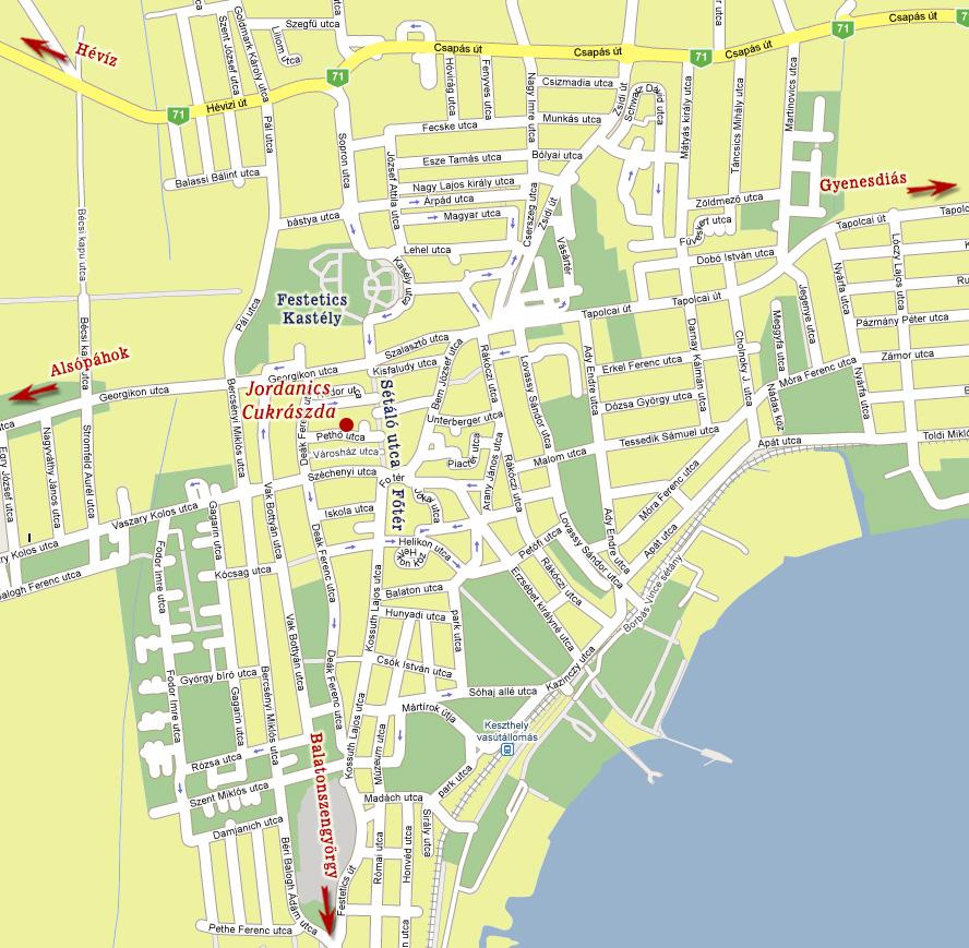 keszthely térkép Jordanics Cukrászda keszthely térkép